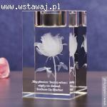 Róża 3D z dedykacją jako wyraz Twoich uczuć dla ukochanej!