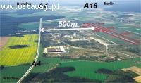 Działka inwestycyjna, autostrada A4 i A18 dawne lotnisko