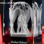 Pamiątka ślubna z własną dedykacją - Altanka Ślubna 3D