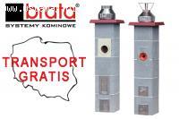 Systemy kominowe BRATA z darmową dostawą bezpośrednio na bud