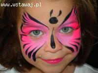 Malowanie twarzy dzieci na imprezach