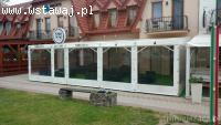 Olplan- tarasy, osłony z folii, zabudowy altan
