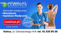 Ucz się na kierunkach medycznych za darmo !! Cosinus Kielce