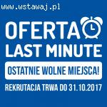 Oferta Last Minute! W szkole Żak Legionowo.