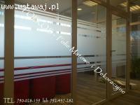 Folia matowa mrożona -Warszawa Folie na okna i drzwi