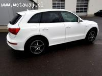 Biale Audi q5 Sandomierz Wynajem do ślubu wesela ,skóra