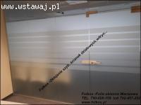 Folie okienne Matowe Warszawa- ( Folia mleczna, mrożona )