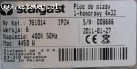 Piec do pizzy 1-komorowy 4x32 1/17/4
