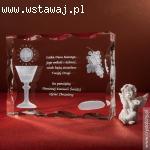 Kryształ 3D na pamiątkę Pierwszej Komunii Świętej