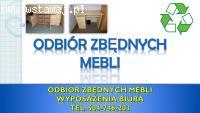 Utylizacja mebli biurowych, tel. 504-746-203. Odbiór mebli