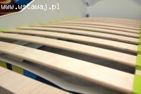 Łóżeczko dziecięce białe 140x70 czarne obramowanie + materac