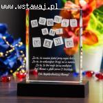 Personalizowany kryształ 3D na Dzień Matki