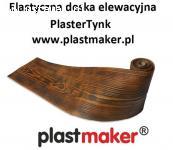 Elastyczna deska elewacyjna -  imitacja drewna PlasterTynk