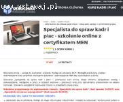 Kurs Specjalista ds. kadr i płac- wideoszkolenie online