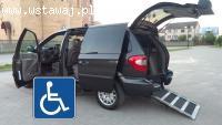 Voyager przystosowany do przewozu osoby niepełnosprawnej