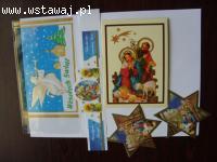 Do Opłatków Świątecznych folijki kartki inne ozdoby wysyłka