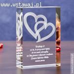 Romantyczna statuetka na prezent - Splecione Serca 3D z Twoj