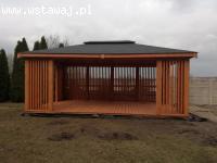 Duża drewniana ALTANA ogrodowa 6x4mPawilon zamówienie sosna