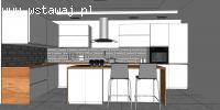 Projektowanie kuchni-projekt koncepcyjny. TANIO I SZYBKO