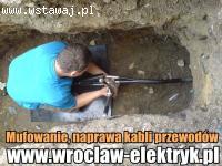 Mufowanie, naprawa kabli przewodów. Mufa energetyczna.Wrocław i