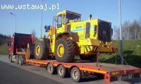 Transport maszyn rolniczych i budowlanych transport niskopod