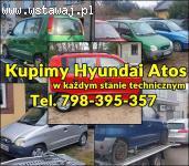 Skupujemy Hyundai Atos w każdym stanie technicznym oraz inne Hyu