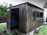 Garaże blaszane,wiaty,hale,konstrukcje stalowe,kojce i inne