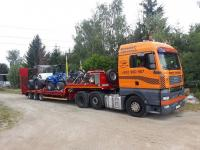 Transport urządzeń maszyn Koparka Ładowarka Spych Forwarder