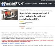 Kurs kadr online z certyfikatem i zaświadczeniem MEN