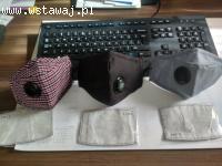 Maseczki FFP3 ochronne filtr PM 2.5 wymienny 100% bawełna ok