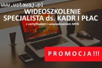 Kurs Specjalista ds. kadr i płac - wideoszkolenie online