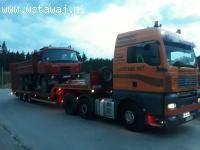 Transport maszyn budowlanych rolniczych przemysłowych
