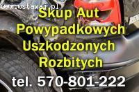 Skup aut Powypadkowych - rozbite, uszkodzone, w każdym stanie