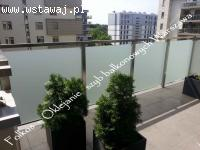 Folia balkonowa -folia na szklane szyby balkonowe- Oklejanie